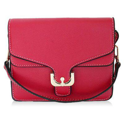 Sewing Flap Crossbody Bag with Handle