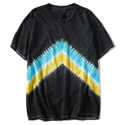 Short Sleeve Tie Dyed Chevron T-shirt