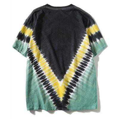 Zig Zag Tie Dye TeeMens Short Sleeve Tees<br>Zig Zag Tie Dye Tee<br><br>Collar: Round Neck<br>Material: Polyester<br>Package Contents: 1 x T-shirt<br>Pattern Type: Others<br>Sleeve Length: Short<br>Style: Casual<br>Weight: 0.2900kg