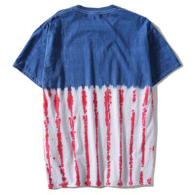 Short Sleeve Striped Tie Dye TeeMens Short Sleeve Tees<br>Short Sleeve Striped Tie Dye Tee<br><br>Collar: Round Neck<br>Material: Polyester<br>Package Contents: 1 x T-shirt<br>Pattern Type: Others<br>Sleeve Length: Short<br>Style: Casual<br>Weight: 0.2900kg