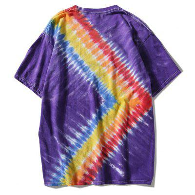 Casual Short Sleeve Rainbow Tie Dye TeeMens Short Sleeve Tees<br>Casual Short Sleeve Rainbow Tie Dye Tee<br><br>Collar: Round Neck<br>Material: Polyester<br>Package Contents: 1 x T-shirt<br>Pattern Type: Others<br>Sleeve Length: Short<br>Style: Casual<br>Weight: 0.2900kg