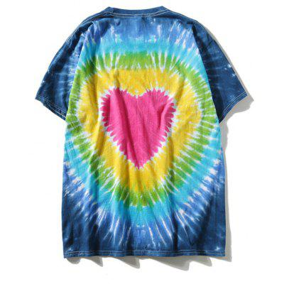 Heart Tie Dyed T-shirtMens Short Sleeve Tees<br>Heart Tie Dyed T-shirt<br><br>Collar: Round Neck<br>Material: Polyester<br>Package Contents: 1 x T-shirt<br>Pattern Type: Heart<br>Sleeve Length: Short<br>Style: Casual<br>Weight: 0.2900kg