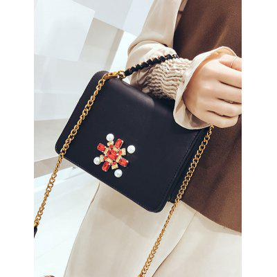 Braid Faux Pearl Rhinestone Crossbody BagCrossbody Bags<br>Braid Faux Pearl Rhinestone Crossbody Bag<br><br>Closure Type: Cover<br>Embellishment: Beading<br>Gender: For Women<br>Handbag Size: Small(20-30cm)<br>Handbag Type: Crossbody bag<br>Main Material: PU<br>Occasion: Versatile<br>Package Contents: 1 x Crossbody Bag<br>Pattern Type: Solid<br>Size(CM)(L*W*H): 20*9*14CM<br>Style: Fashion<br>Weight: 0.6000kg