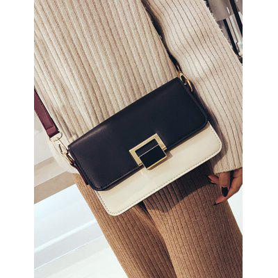 Color Blocking Square Buckled Crossbody BagCrossbody Bags<br>Color Blocking Square Buckled Crossbody Bag<br><br>Closure Type: Cover<br>Gender: For Women<br>Handbag Size: Small(20-30cm)<br>Handbag Type: Crossbody bag<br>Main Material: PU<br>Occasion: Versatile<br>Package Contents: 1 x Crossbody Bag<br>Pattern Type: Solid<br>Size(CM)(L*W*H): 22*9*15CM<br>Style: Fashion<br>Weight: 0.6000kg
