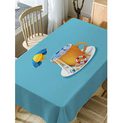 Sea In The Cup Pattern Fabric Waterproof Table ClothTable Accessories<br>Sea In The Cup Pattern Fabric Waterproof Table Cloth<br><br>Material: Polyester<br>Package Contents: 1 x Table Cloth<br>Pattern Type: Star<br>Type: Table Cloth<br>Weight: 0.3750kg