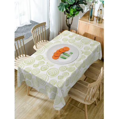 Carrot Coil Pattern Fabric Waterproof Table Cloth