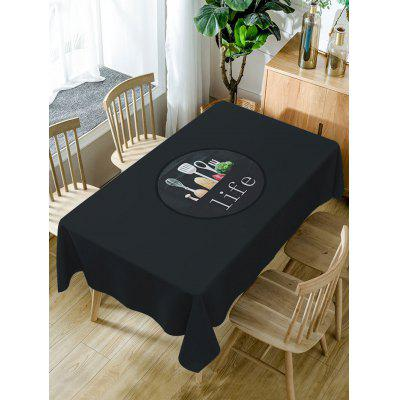 Life Print Fabric Waterproof Table Cloth
