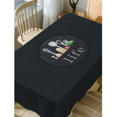 Life Print Fabric Waterproof Table ClothTable Accessories<br>Life Print Fabric Waterproof Table Cloth<br><br>Material: Polyester<br>Package Contents: 1 x Table Cloth<br>Pattern Type: Food, Letter<br>Type: Table Cloth<br>Weight: 0.5900kg