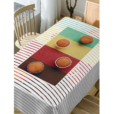 Cake Stripe Print Fabric Waterproof Table ClothTable Accessories<br>Cake Stripe Print Fabric Waterproof Table Cloth<br><br>Material: Polyester<br>Package Contents: 1 x Table Cloth<br>Pattern Type: Striped<br>Type: Table Cloth<br>Weight: 0.3750kg