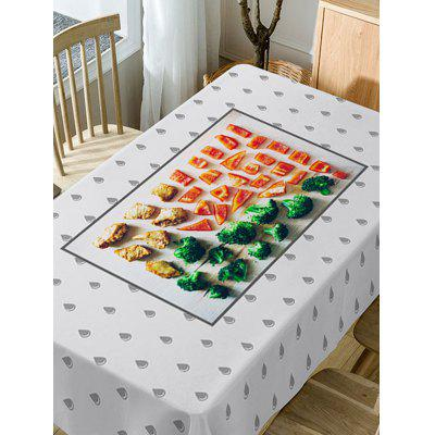 Foods Pattern Fabric Waterproof Table ClothTable Accessories<br>Foods Pattern Fabric Waterproof Table Cloth<br><br>Material: Polyester<br>Package Contents: 1 x Table Cloth<br>Pattern Type: Food<br>Type: Table Cloth<br>Weight: 0.5900kg