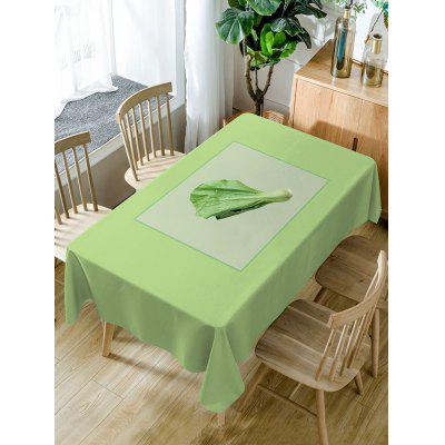 Vegetables Pattern Fabric Waterproof Table Cloth