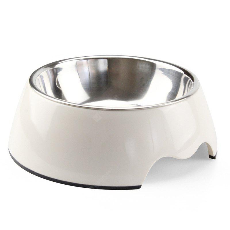 Food Grade Melamine Stainless Steel Detachable Pet Bowl