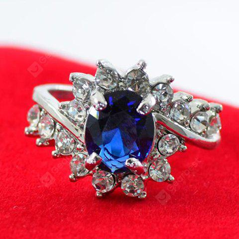 Faux Gem Oval Shape Rhinestone Wedding Ring