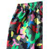 Drawstring Colorful Camouflage Print Beach Shorts - ACU CAMOUFLAGE