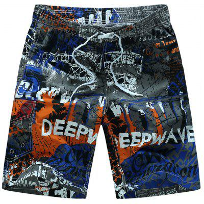 Loose-fitting Graphic Beach Shorts