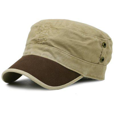 Simple Line Embroidery Adjustable Military Cap