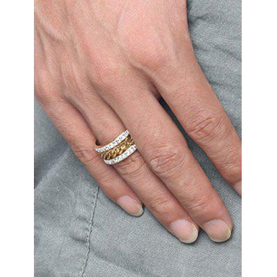 Rhinestone Rotatable Chain Finger RingMens Jewelry<br>Rhinestone Rotatable Chain Finger Ring<br><br>Gender: For Men<br>Package Contents: 1 x Ring<br>Shape/Pattern: Round<br>Style: Trendy<br>Weight: 0.0100kg