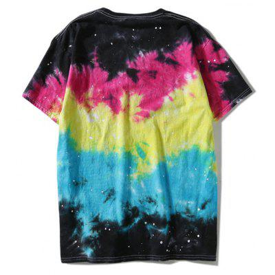 Short Sleeve Colorful Tie Dye TeeMens Short Sleeve Tees<br>Short Sleeve Colorful Tie Dye Tee<br><br>Collar: Round Neck<br>Material: Polyester<br>Package Contents: 1 x T-shirt<br>Pattern Type: Others<br>Sleeve Length: Short<br>Style: Casual<br>Weight: 0.3000kg
