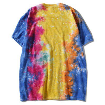Round Neck Colorful Tie Dye TeeMens Short Sleeve Tees<br>Round Neck Colorful Tie Dye Tee<br><br>Collar: Round Neck<br>Material: Polyester<br>Package Contents: 1 x T-shirt<br>Pattern Type: Others<br>Sleeve Length: Short<br>Style: Casual<br>Weight: 0.3000kg