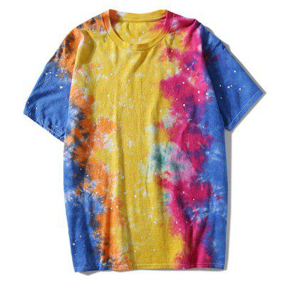 Round Neck Colorful Tie Dye Tee