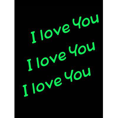 Luminous I Love You Bedroom Wall Decal
