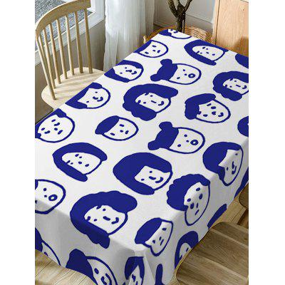 Cartoon Family Face Print Waterproof Dining Table ClothTable Accessories<br>Cartoon Family Face Print Waterproof Dining Table Cloth<br><br>Material: Polyester<br>Package Contents: 1 x Table Cloth<br>Pattern Type: Print<br>Type: Table Cloth<br>Weight: 0.4600kg