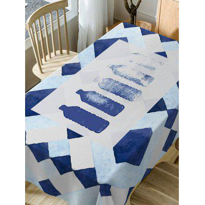 Waterproof Water Bottle Print Fabric Table ClothTable Accessories<br>Waterproof Water Bottle Print Fabric Table Cloth<br><br>Material: Polyester<br>Package Contents: 1 x Table Cloth<br>Pattern Type: Print<br>Type: Table Cloth<br>Weight: 0.4600kg