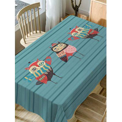 Cartoon Owls Print Fabric Waterproof Table ClothTable Accessories<br>Cartoon Owls Print Fabric Waterproof Table Cloth<br><br>Material: Polyester<br>Package Contents: 1 x Table Cloth<br>Pattern Type: Animal<br>Type: Table Cloth<br>Weight: 0.5900kg