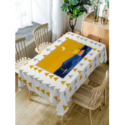 Triangle Print Fabric Waterproof Table Cloth