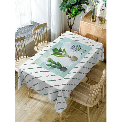 Cactus Plant Pot Print Waterproof Table Cloth