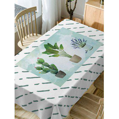 Cactus Plant Pot Print Waterproof Table ClothTable Accessories<br>Cactus Plant Pot Print Waterproof Table Cloth<br><br>Material: Polyester<br>Package Contents: 1 x Table Cloth<br>Pattern Type: Plant<br>Type: Table Cloth<br>Weight: 0.5900kg