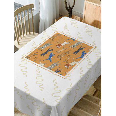 Running Tiger and Lion Print Fabric Table ClothTable Accessories<br>Running Tiger and Lion Print Fabric Table Cloth<br><br>Material: Polyester<br>Package Contents: 1 x Table Cloth<br>Pattern Type: Animal<br>Type: Table Cloth<br>Weight: 0.4600kg
