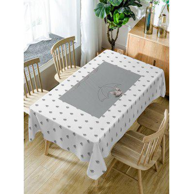 Raindrop Print Fabric Waterproof Table Cloth