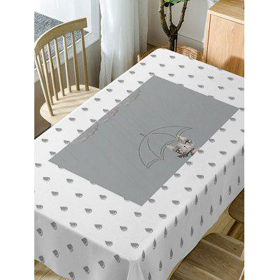 Raindrop Print Fabric Waterproof Table ClothTable Accessories<br>Raindrop Print Fabric Waterproof Table Cloth<br><br>Material: Polyester<br>Package Contents: 1 x Table Cloth<br>Pattern Type: Animal, Cartoon<br>Type: Table Cloth<br>Weight: 0.5900kg