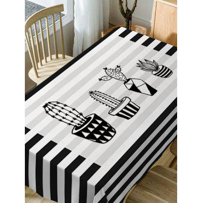 Waterproof Stripe Cactus Print Fabric Table ClothTable Accessories<br>Waterproof Stripe Cactus Print Fabric Table Cloth<br><br>Material: Polyester<br>Package Contents: 1 x Table Cloth<br>Pattern Type: Plant<br>Type: Table Cloth<br>Weight: 0.5900kg