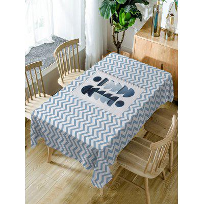 Zig Zag Print Fabric Waterproof Table Cloth