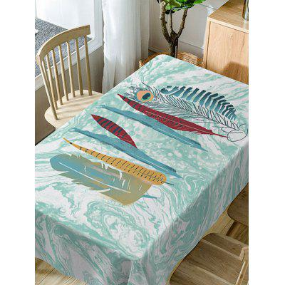 Feather and Marble Print Fabric Waterproof Table ClothTable Accessories<br>Feather and Marble Print Fabric Waterproof Table Cloth<br><br>Material: Polyester<br>Package Contents: 1 x Table Cloth<br>Pattern Type: Feather<br>Type: Table Cloth<br>Weight: 0.3750kg