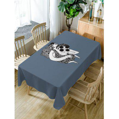 Cartoon Print Fabric Waterproof Table Cloth