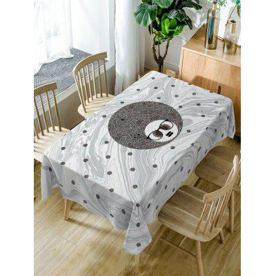 Waterproof Spot Big Head Man Print Table Cloth