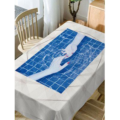Hand In Hand Print Fabric Waterproof Table ClothTable Accessories<br>Hand In Hand Print Fabric Waterproof Table Cloth<br><br>Material: Polyester<br>Package Contents: 1 x Table Cloth<br>Pattern Type: Plaid<br>Type: Table Cloth<br>Weight: 0.3750kg