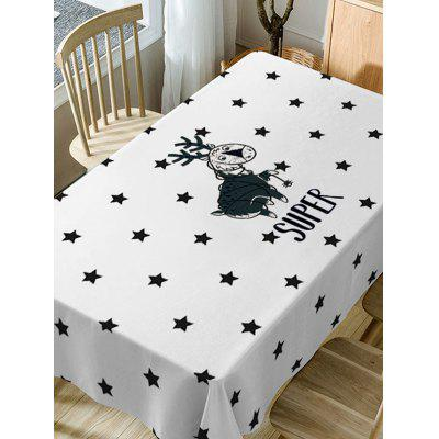 Deer and Stars Print Fabric Waterproof Table ClothTable Accessories<br>Deer and Stars Print Fabric Waterproof Table Cloth<br><br>Material: Polyester<br>Package Contents: 1 x Table Cloth<br>Pattern Type: Cartoon, Star<br>Type: Table Cloth<br>Weight: 0.4600kg