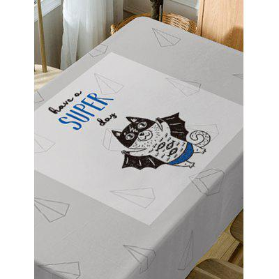 Cat Have A Super Day Print Table ClothTable Accessories<br>Cat Have A Super Day Print Table Cloth<br><br>Material: Polyester<br>Package Contents: 1 x Table Cloth<br>Pattern Type: Animal, Letter<br>Type: Table Cloth<br>Weight: 0.5900kg