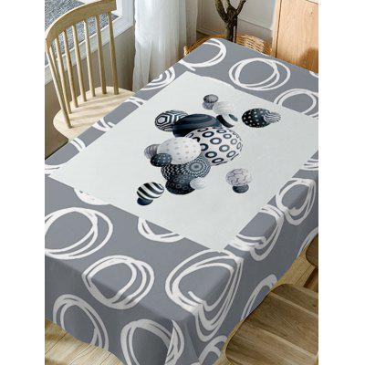 Ball Print Fabric Waterproof Table ClothTable Accessories<br>Ball Print Fabric Waterproof Table Cloth<br><br>Material: Polyester<br>Package Contents: 1 x Table Cloth<br>Pattern Type: Ball<br>Type: Table Cloth<br>Weight: 0.4600kg