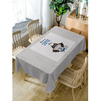 Cat Have A Super Day Print Table Cloth