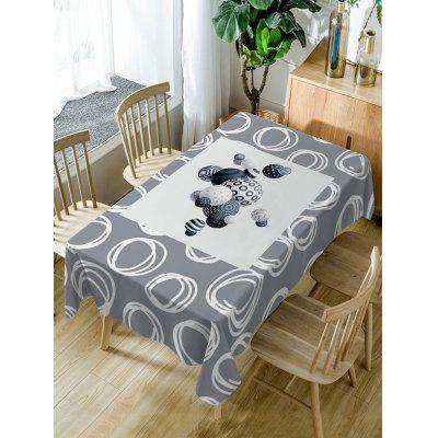 Ball Print Fabric Waterproof Table Cloth