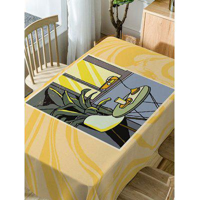 Waterproof Table Chair Print Fabric Table ClothTable Accessories<br>Waterproof Table Chair Print Fabric Table Cloth<br><br>Material: Polyester<br>Package Contents: 1 x Table Cloth<br>Pattern Type: Print<br>Type: Table Cloth<br>Weight: 0.5900kg