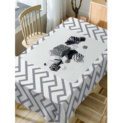 Cube Print Fabric Waterproof Table ClothTable Accessories<br>Cube Print Fabric Waterproof Table Cloth<br><br>Material: Polyester<br>Package Contents: 1 x Table Cloth<br>Pattern Type: Geometric<br>Type: Table Cloth<br>Weight: 0.4600kg