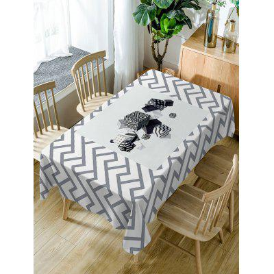 Cube Print Fabric Waterproof Table Cloth
