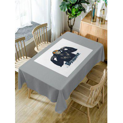 Gorilla Print Fabric Waterproof Table Cloth
