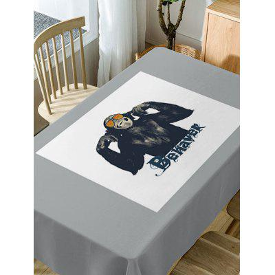 Gorilla Print Fabric Waterproof Table ClothTable Accessories<br>Gorilla Print Fabric Waterproof Table Cloth<br><br>Material: Polyester<br>Package Contents: 1 x Table Cloth<br>Pattern Type: Animal, Letter<br>Type: Table Cloth<br>Weight: 0.5900kg